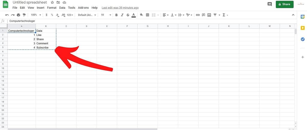 how to create table in gmail