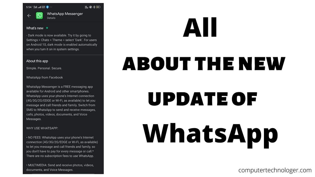 All about the new update of WhatsApp -