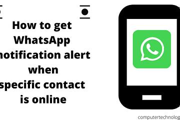 Whatsapp notification alert