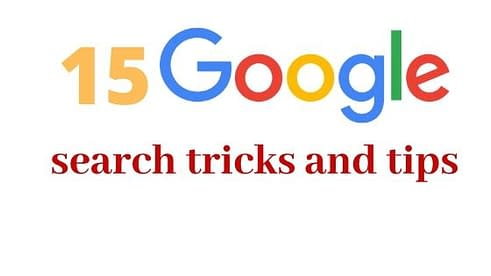 15 Google search tricks and tips